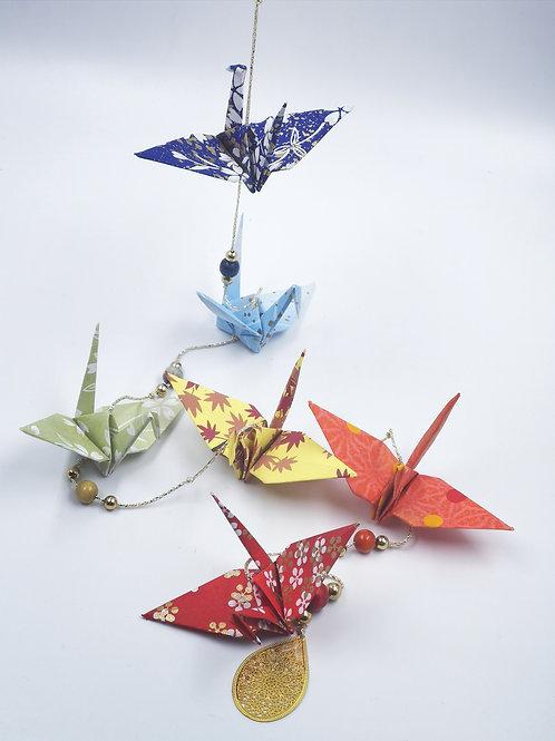 MissDyne : Guirlande origami grue arc en ciel