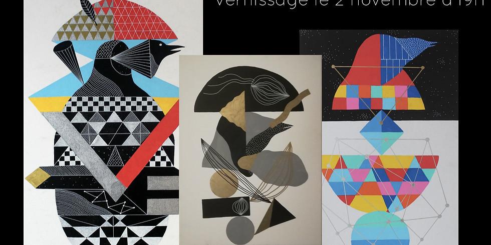 Maxime Deflandre expose chez Déco Vertes by Cilou