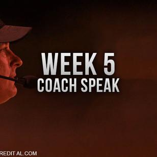 Coach Speak from Week 5