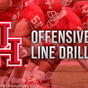 Houston Cougar Offensive Line Drills 2012