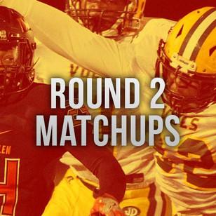 Round 2 Playoff Match ups