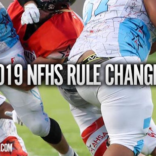 NFHS Football Rule Changes for 2019