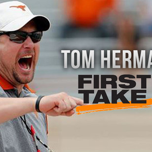 Tom Herman Talks the New Texas Football on ESPN First Take