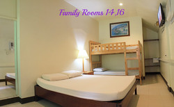 Famiy Rooms 14 and 16