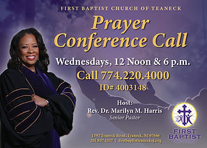 FBCT Prayer Conference Call 2020 flyer 5