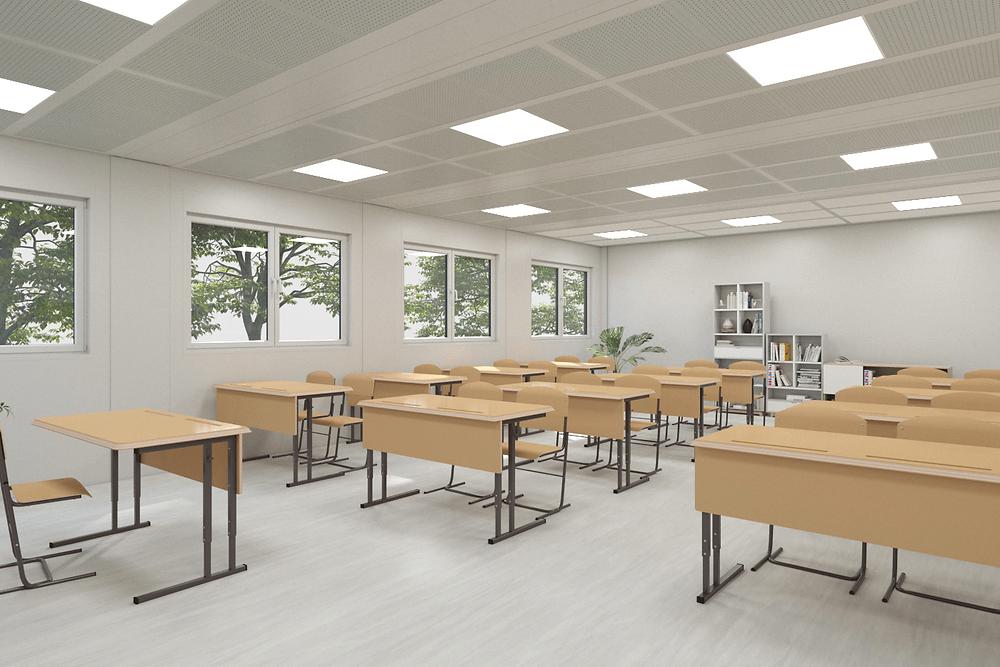 salle de classe modulaire containerflex