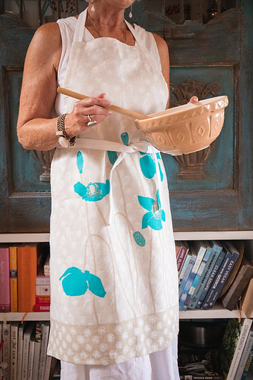 Poppies 100% Linen Apron