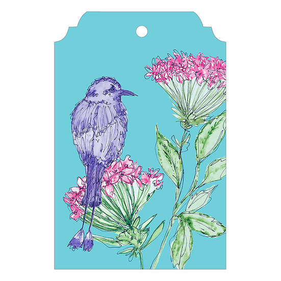 Geraniums & Motmot Bird Gift Tag Pack