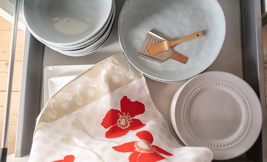 Linen Tea Towels - Poppies