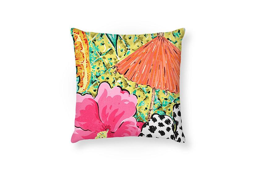 Tropical Cocktail Cushion - 50cm x 50cm