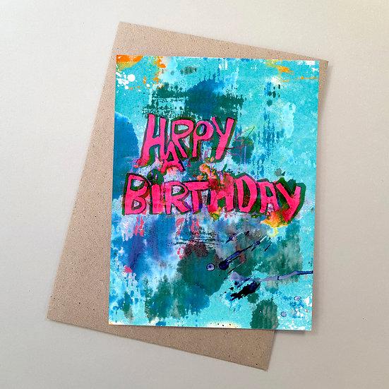 Happy Birthday Graffiti Red