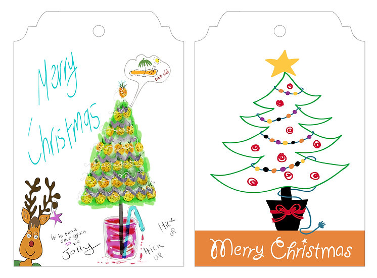 Rudolph Tropical Punch & Tree - Gift Tag Pack