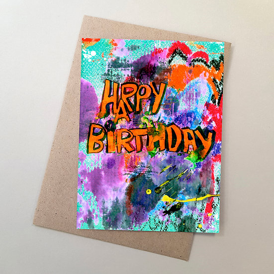 Happy Birthday - Graffiti Orange