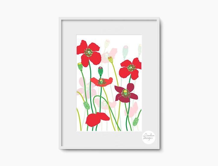 Poppies Print - Unframed