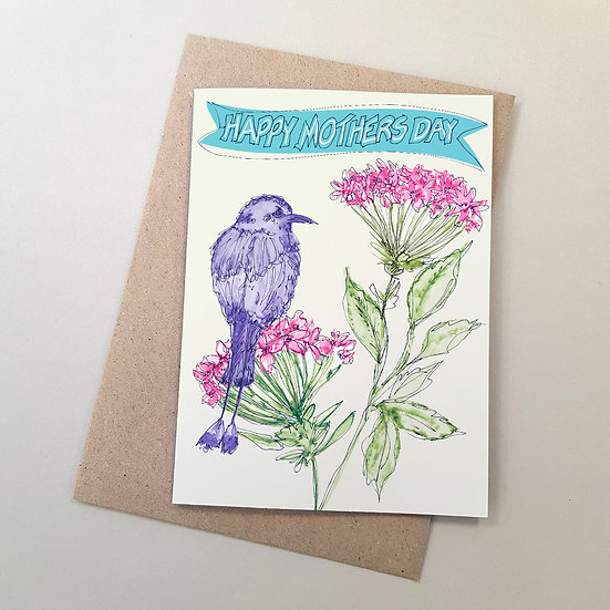 Jungle Geraniums + Motmot Bird