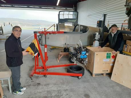 Sling TSi n°211, installation du moteur.