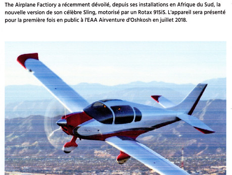Article AEROBUZZ, Sling 4 TSI.