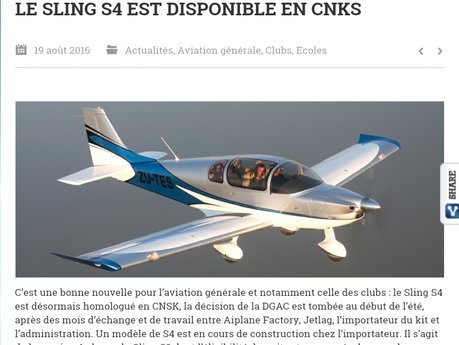Article Internet Aviation & Pilote
