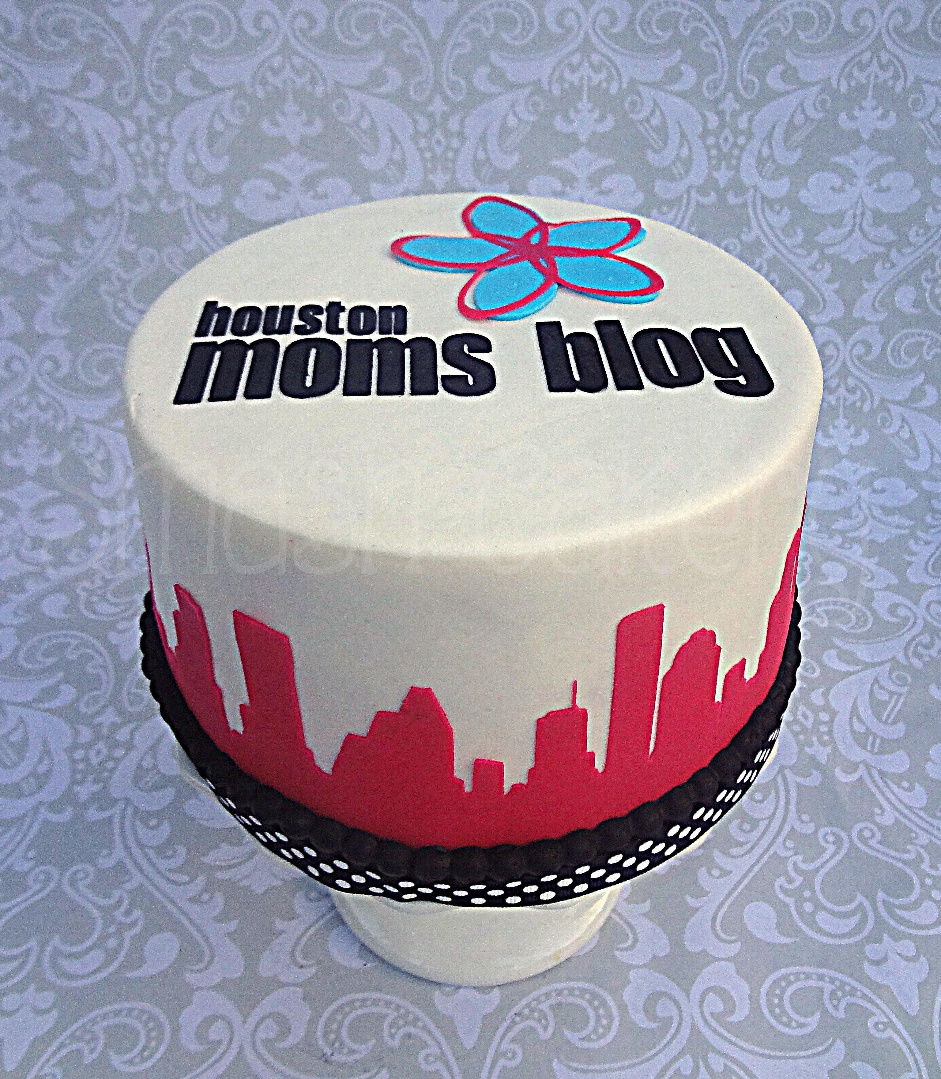Hot Pink Fondant Cake