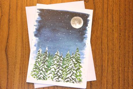 Mightnight Winter Woodlands