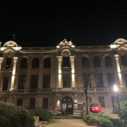 Mise en lumière facade ancienne biblioth