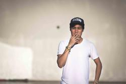 L.A. River Smoking Pose