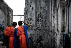 Novice Monks Sightsee