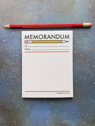 Stationery - Memorandum Notepad