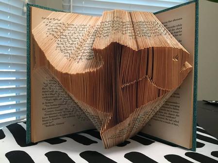 fish folded book art