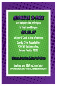wedding invitation back