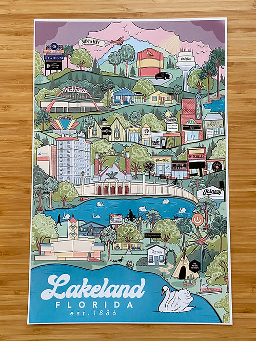 The City of Lakeland by Tate Krupa - 11x17 Poster