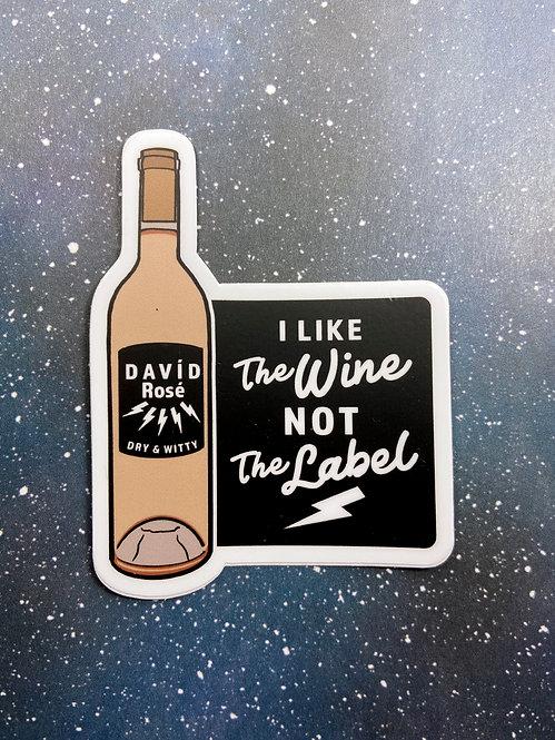 "Vinyl Decal - ""I Like The Wine"" David Rose Schitt's Creek Pansexual"