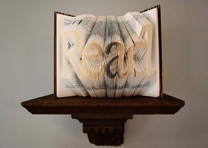 read folded book art