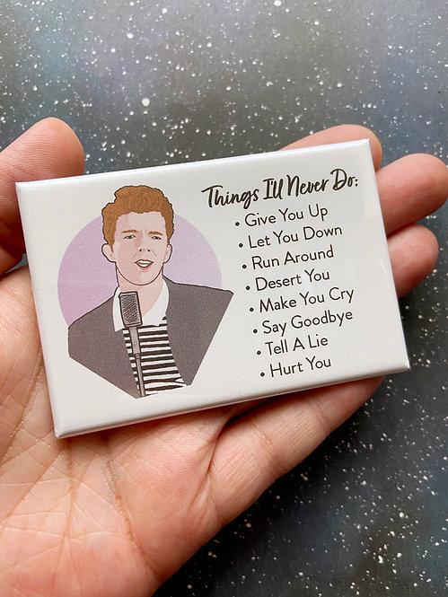 Souvenir Magnet - Rick Astley