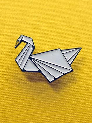Enamel Pin - Origami Swan