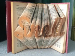 custom name folded book art