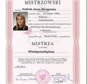 Dyplom mistrza Wizazu