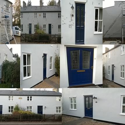 Exterior house painters Hertfordshire.