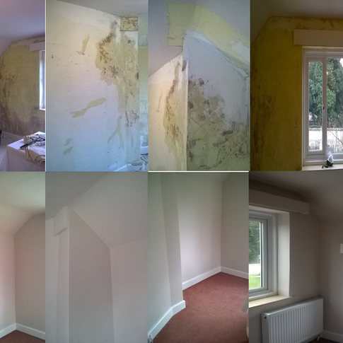 This flood damaged property has had the interior refurbished to create a new bedroom in Royston SG8 by www.oaktreeltd.co