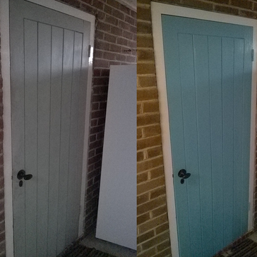 Exterior painted door in Buntingford SG9.