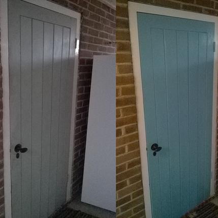 Exterior painted door in Buntingford SG9.