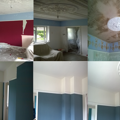 This interior living romm has been re-plastered and decorated for our client in Cambridge CB4 Cambridgeshire by www.oaktreeltd.co