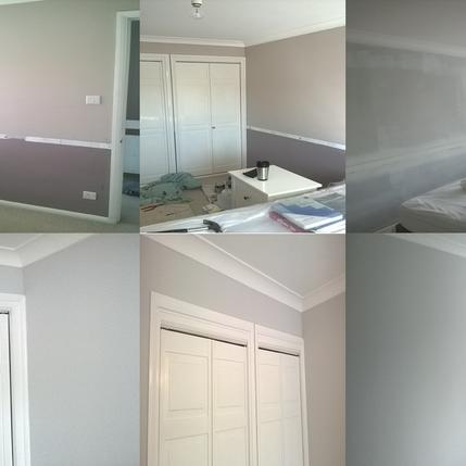 Interior Painted Bedroom