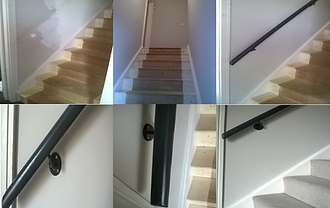 Staircase renovation before and after in Cambridge,interior decorating