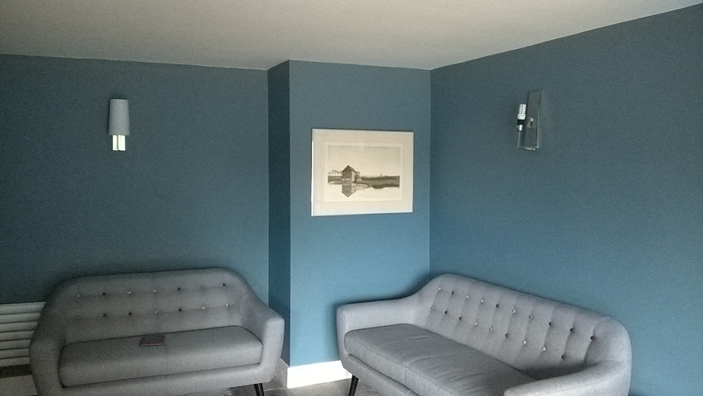 This interior decorating has been completed after the room was completly renovated in Cambridge.