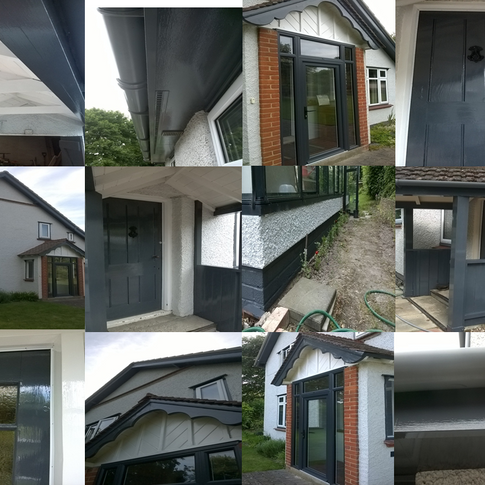 Exterior house Painting before and after in Sg6 Letchworth Hertfordshire www.oaktreeltd.co