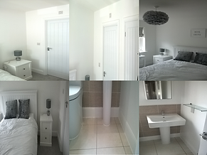 Painted interior bedroom and bathroom before and after in Cambridge CB24