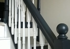 renovate your staicase with www.oaktreeltd.co, professional painters & decorators, staircase design, interior staircase decoration, farrow & ball staircase painters, refurbish your stairs spindle bannister,