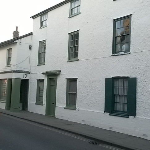 This graded building has had all of the exterior painted with many repairs to windows and doors in Royston SG8 by www.oaktreeltd.co