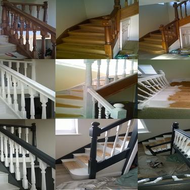 Interior Staircase refurbishment in Hertfordshire by www.oaktreeltd.co